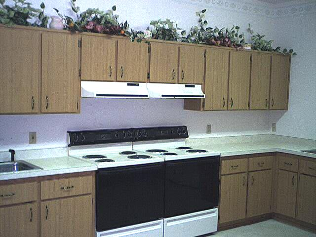 Part of our Kitchen in the Fellowship Hall.   What a Blessing!